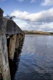 老码头,港湾Swilly, Co Donegal 免版税图库摄影