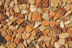 老砂岩岩石墙壁纹理 库存图片
