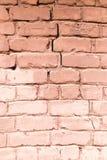 老砖墙作为抽象背景 免版税库存图片