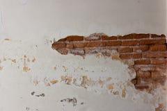 老砖墙纹理 Painted困厄了墙壁表面 r 免版税库存照片