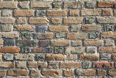 老砖墙 免版税库存照片