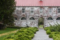 老砖瓦房Blandy农厂VA状态树木园 图库摄影
