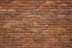 老砖砌,红色块背景墙壁  库存图片