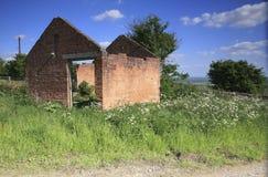 老砖谷仓 库存图片