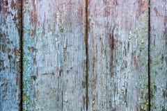 老破裂的委员会纹理有蓝色paint_踪影的  免版税库存图片