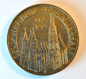 老硬币在维也纳,奥地利,欧洲 免版税库存图片