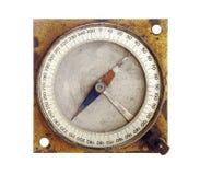 老磁性指南针 免版税库存图片