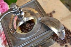 老磨咖啡器 库存图片