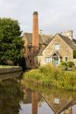 老磨房在英国的Cotswold区 库存照片