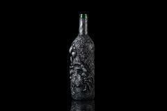 老神秘的万圣夜幻想魔术瓶 免版税库存照片