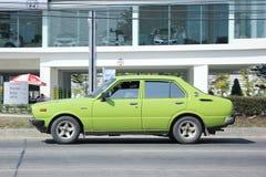 老私人汽车,丰田Collora 免版税库存图片