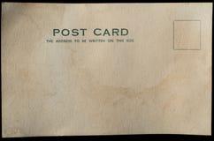 老空白的明信片背景 免版税图库摄影