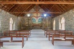 老空的历史的海岛教会 免版税库存图片