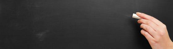 老空的黑板当全景背景 库存图片