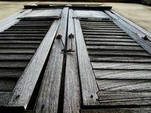 老窗口在老镇 免版税图库摄影