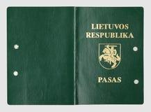 老立陶宛护照盖子 免版税库存照片