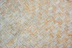 老竹墙壁木织法背景 免版税库存图片