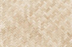 老竹编织的样式, backgro的被编织的藤条席子纹理 库存照片