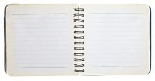 老笔记本开张 库存图片