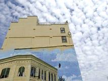 老第一张国家银行墙壁上的津贴通行证,俄勒冈 免版税库存照片