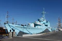 老第二个战争军舰世界 免版税库存图片