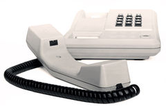 老简单的办公桌电话乌贼属 免版税库存图片