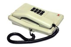 老简单的办公桌电话和缆绳 免版税库存照片