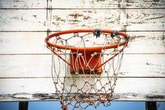老篮球射击 库存图片
