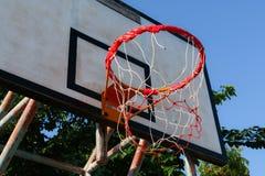 老篮球篮 免版税库存图片