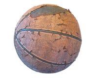 老篮球 免版税库存图片