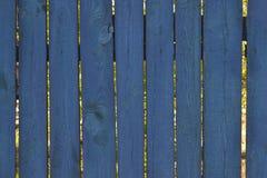 老篱芭蓝色粗砺的木板条 免版税库存照片