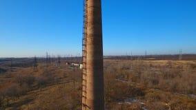 老粉碎的管子由砖做成 股票录像