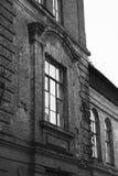 老精神病学的收容所的大厦;老影片作用 库存照片