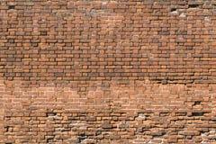 老红砖墙壁普通摘要  库存图片