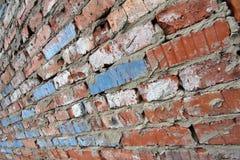 老红砖墙壁样式纹理背景 免版税库存图片
