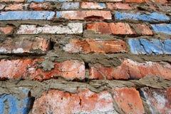 老红砖墙壁样式纹理背景 库存照片