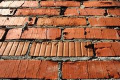 老红砖墙壁样式纹理背景 免版税图库摄影