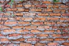 老红砖墙壁纹理背景难看的东西墙纸 免版税库存照片