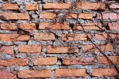 老红砖墙壁纹理背景难看的东西墙纸 库存照片