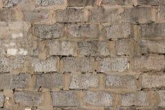 老红砖墙壁,难看的东西背景 免版税库存图片