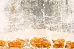 老红砖墙壁 免版税图库摄影