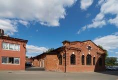 老红砖大厦在莫斯科 库存图片