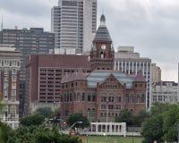 老红色博物馆,有Dealy广场的达拉斯得克萨斯,前景的 库存照片