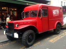 老红色卡车 免版税图库摄影
