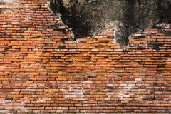 老红色和橙色砖墙 免版税库存照片