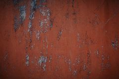 老红色墙壁淋浴了油漆 红色背景纹理 库存图片