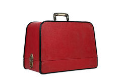 老红色手提箱葡萄酒 免版税库存照片