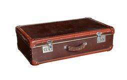 老红色手提箱 库存照片