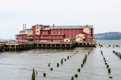 老红色旅馆在Astoria 图库摄影