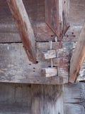 老红色木纹理背景 免版税库存图片
